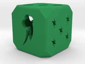 Hollow Dice My Little PonyHollow Die My Little Pon in Green Strong & Flexible Polished