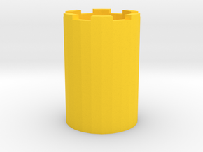Smiley Face Pen Holder or Pencil Cup in Yellow Strong & Flexible Polished