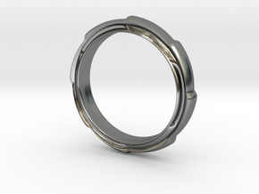 Ring a la Gear in Polished Silver