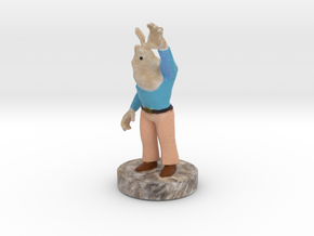 Buck Bunny Rabbit Full Color 3D Printer By Space3D in Full Color Sandstone