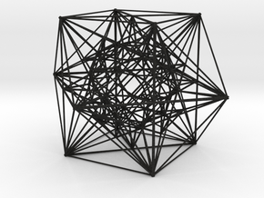 """Inversion of Cuboctahedra, 4.1"""" in Black Acrylic"""