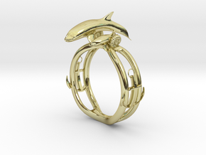 Parent and child of a killer whale(USA 6.5,Japan 1 in 18k Gold