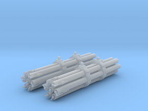 M158 Pair Rocket Pods 1/48 Scale (Unloaded) in Frosted Ultra Detail