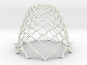 3D Model Cone Structure - Dome in White Strong & Flexible