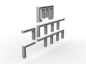 PBR DH Handrail Templates(HO/1:87 Scale) in White Strong & Flexible