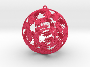 Double Happiness Ornament in Pink Strong & Flexible Polished