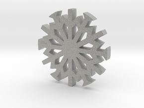 Snowflake Ornament in Metallic Plastic