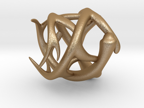Antler Ring - Size 7(UPDATED) in Matte Gold Steel