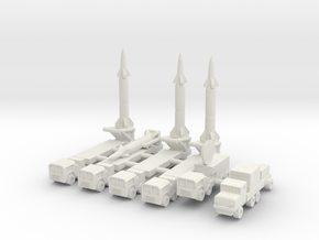 1/350 Pershing 2 Missile Battery in White Strong & Flexible