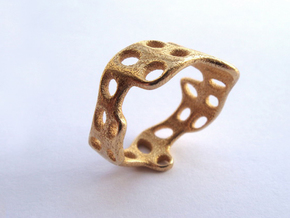 s3r028s9 GenusReticulum  in Matte Gold Steel