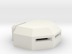 MG Pillbox 3 in White Strong & Flexible