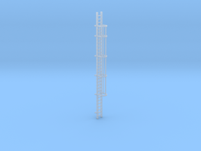'N-Scale' - 30' Caged Ladder in Frosted Ultra Detail