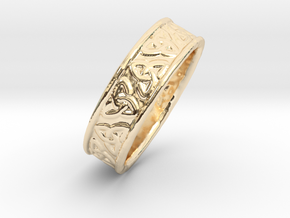 Celtic Triangles 16mm in 14K Gold