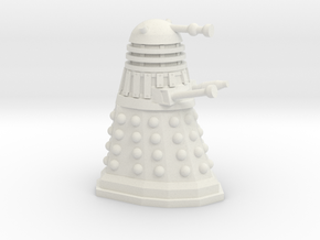 Dalek Miniature 30mm Scale in White Strong & Flexible