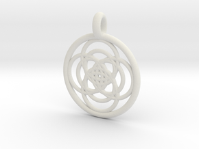 Iocaste pendant in White Strong & Flexible