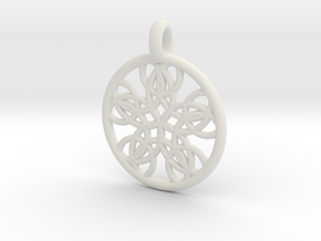 Isonoe pendant in White Strong & Flexible