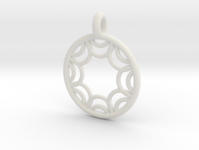 Euporie pendant in White Strong & Flexible