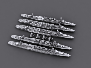 1/4800 IJN Kuma class light cruisers[1941-42] in Frosted Ultra Detail