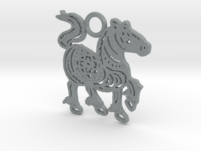 Year of the Horse: Lucky charm in Polished Metallic Plastic