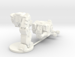 Mattock MkB Heavy Combat Walker - 6mm scale in White Strong & Flexible Polished