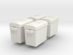 1/87 Scale Freezer Containers x4 in White Strong & Flexible
