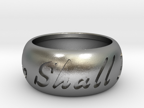 This Too Shall Pass ring size 8  in Raw Silver