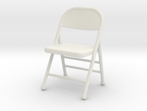 1:24 Folding Chair in White Strong & Flexible
