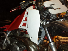 Left side Shroud for short track kit ATC250R in White Strong & Flexible