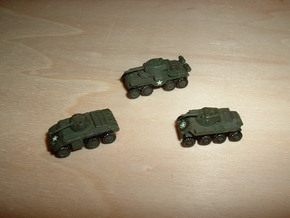 Heavy Armored Cars T13, T16, T18 1/285 6mm in Frosted Ultra Detail