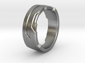 Ring Size O in Raw Silver