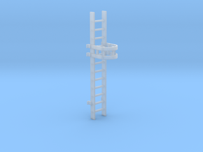'HO Scale' - 10' Caged Ladder in Frosted Ultra Detail
