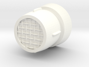 Hovi Mic Tip With Mesh Scaled 0.8 in White Strong & Flexible Polished