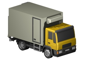 Kühlkoffer-LKW / truck with cooler (Z, 1:220) in Frosted Ultra Detail