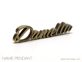 Daniella Name Pendant in Stainless Steel
