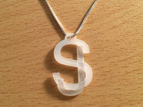 Overlaid Letter Charm in Frosted Ultra Detail