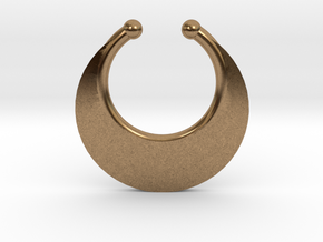 Faux Septum Ring - Crescent (small) in Raw Brass