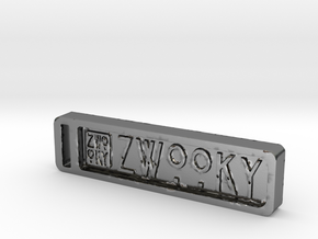 ZWOOKY Keyring 12 rounded 6cm 6mm in Polished Silver