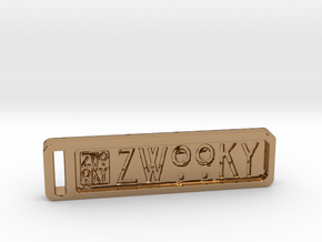 ZWOOKY Keyring 12 rounded 5cm 4.5mm neg in Polished Brass