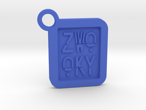 ZWOOKY Keyring LOGO 14 4cm 4mm  in Blue Strong & Flexible Polished