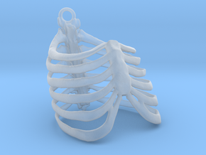 Ribcage Pendant or Finger Ring - 17mm ID in Frosted Ultra Detail
