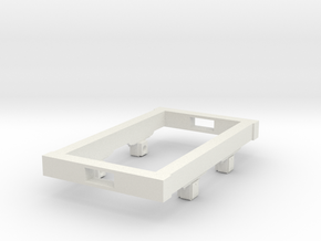 Gn15 small 5ft wagon chassis in White Strong & Flexible