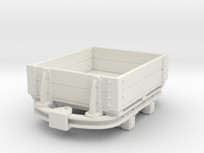 1:35 or Gn15 small skip based lowside wagon in White Strong & Flexible
