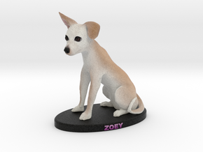 Custom Dog Figurine - Zoey in Full Color Sandstone