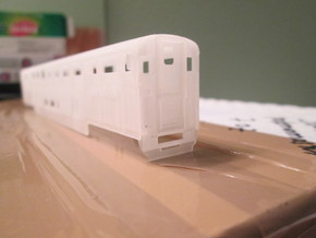 n scale Amtrak Surfliner Coach Baggage (cab car) in Frosted Ultra Detail