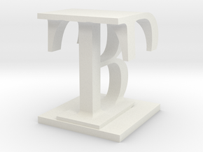 Two way letter / initial B&T in White Strong & Flexible
