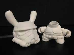 3 inch Trooper bunny  in White Strong & Flexible