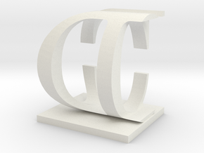 Two way letter / initial C&D in White Strong & Flexible