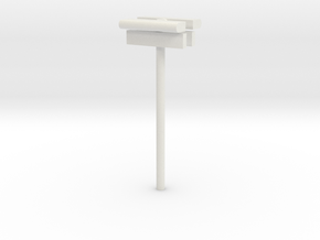 1/160 - DSB Stations lampe (dobbelt) med stations  in White Strong & Flexible