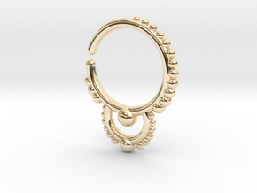 Ear/Nose Hoop in 14K Gold