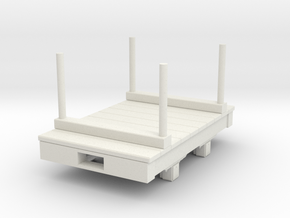 Gn15 small 5ft double bolster wagon in White Strong & Flexible
